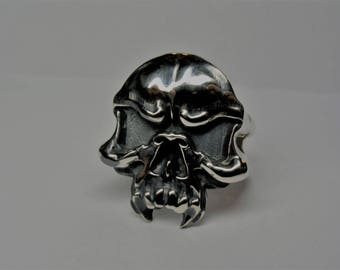 skull ring / silverskullring / skull jewelry