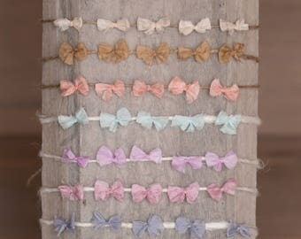 RTS Bow Tieback in 7 colours Newborn Photography Prop