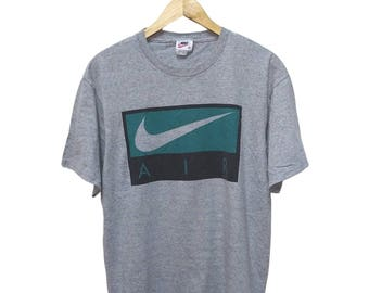 Hot Sale!!! Rare Vintage 90s NIKE AIR Big Logo T-Shirt Hip Hop Skate Swag Medium Size
