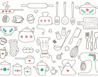 Kitchen Clipart Baking Clipart Kitchen Utensils Clipart Baking Utensils  Clipart Pan Clipart Mixer Clipart Teapot Clipart Part 74