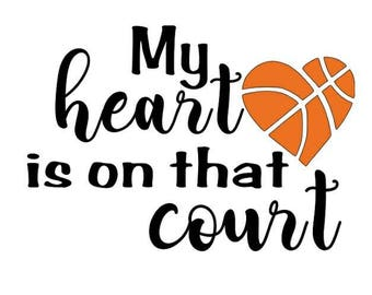 T-Shirt - My Heart is on that Court - Basketball