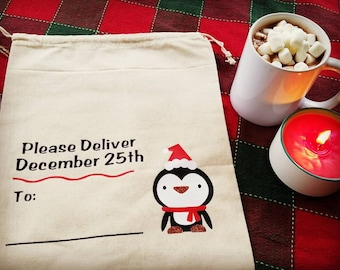 Holiday Sack - Penguin