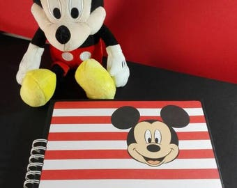 Children's photo album, Mickey Mousse, for gift, for aniversary birthdays or any event