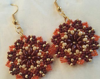 Beaded Italian Style Earrings