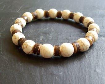 Men's Coco Bead Bracelet - Men's Bracelet - Coco Bead Bracelet - Man's bracelet - Fathers day - Gift for him - Man's coco Bead Bracelet