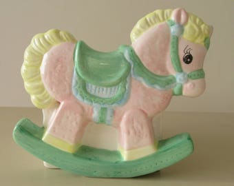 Vintage Gift. Christening Gift. Baby Gift. Baby Shower. Vintage Nursery Decor. Mid Century Nursery Ornament. Mid Century Little Pony Planter