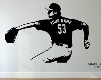Personalized Custom Baseball Wall Decal