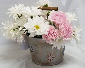 "Embossed Pail ""EARLY SPRING"""