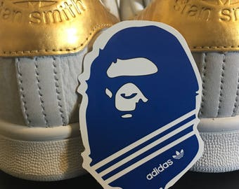 Adidas x Bape Laptop Sticker
