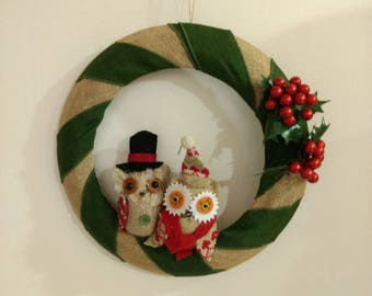 Owl Christmas Wreath