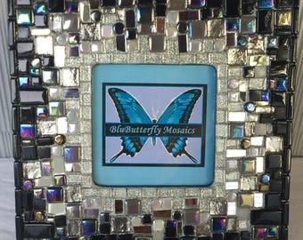 Black and Silver Mosaic Picture Frame