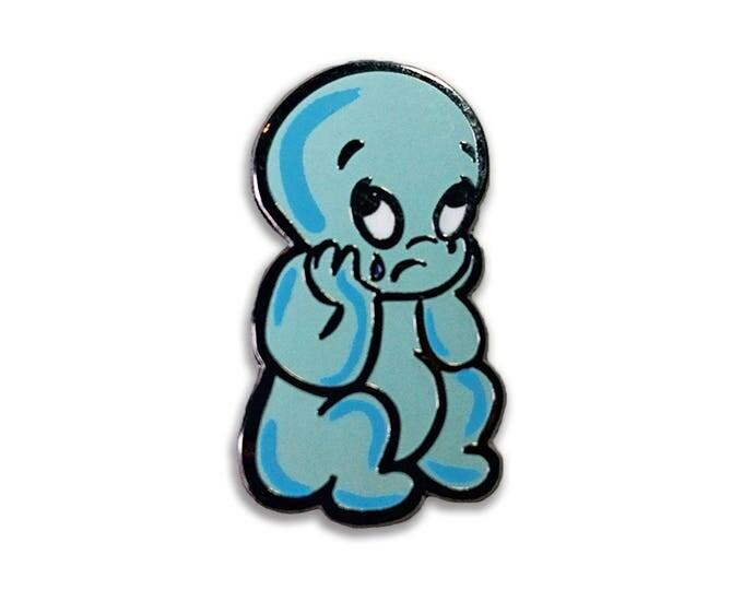 Sad Ghost Pin