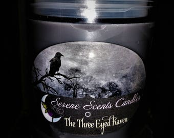 Three Eyed Raven Candle (Item will be discontinued)