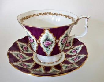 Royal Albert Windsor Cup And Saucer  Vintage Royal Albert