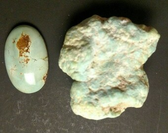 Turquoise Green/Blue Rough Nugget 95 ct