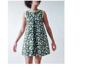 Robe trapèze en wax / A line Dress in wax