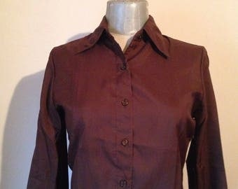 70s shirt etsy chocolate brown vintage 70s shirtpointed collar waisted button down shirt absolut sciox Image collections