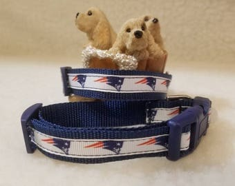 Patriots Handmade Dog Collar 5/8 Inch Wide Small Only