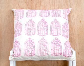Pink Birdcage Cushion