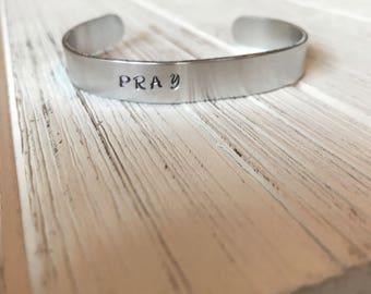 Pray cuff bracelet | bangle | stamped cuff