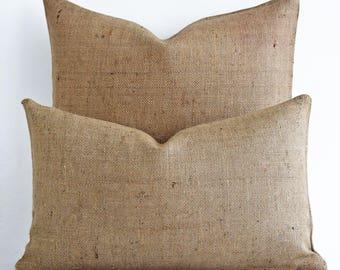 Wholesale! Eco friendly Reusable Pillow Cover Jute Burlap Plain Pillow Cover Burlap Pillow Burlap Pillow Burlap pillow cover Natural Burlap