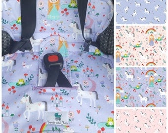 Baby Piddle Pad for Car Seat & Stroller - Great for Toilet Training - Unicorns and Princesses