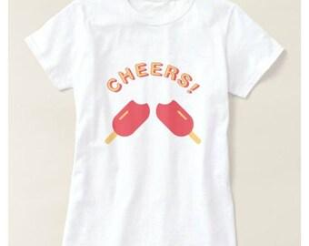 Ice Pop Cheers Graphic Women's Basic T-Shirt