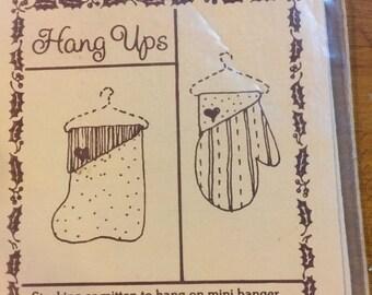 SUMMERSALE Hang Ups Stocking or Mitten pattern to hang on mini hanger