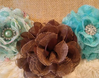 Lace Flower Hair Clips