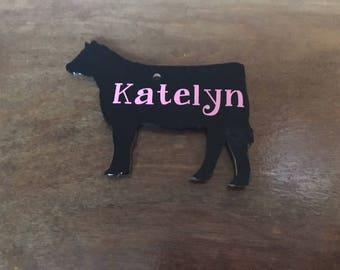 Show Heifer, Show Heifer Keychain, Show Cattle, Cow Key Chain, FFA Key Chain, 4H Key Chain, Livestock Show, Keychain, Show Cow Key Chain