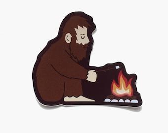 Bigfoot Camping Sticker