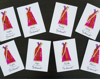 Indian Custom Bridesmaids Card
