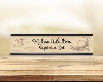 Vintage Cupid Desk Name Plate
