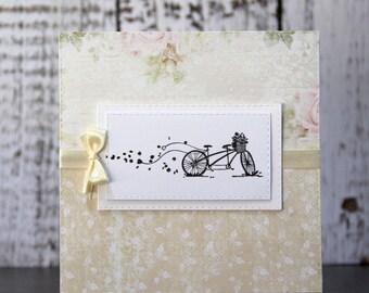 Wedding card in cream tones