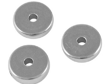 20 disc 8 mm Platinum CCB beads