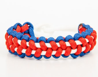 Blue, white and Red Paracord Bracelet