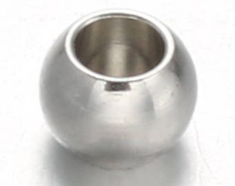 10 pearls steel rounds 8mm stainless steel