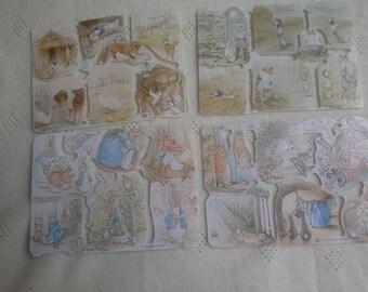 Beatrix Potters/Peter rabbit vintage paper scraps