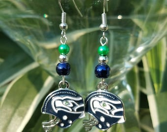 Seattle Seahawks Helmet Earrings