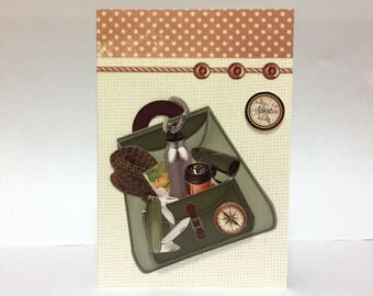 Male Birthday Card - Outdoor/Walking/Camping - luxury personalised unique quality special bespoke UK - Dad/Son/Uncle/Brother/Nephew
