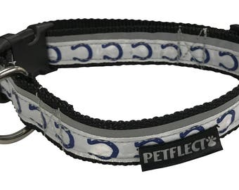 Indianapolis Colts Reflective Dog Collar