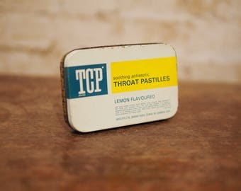 Vintage Advertising Tin - TCP Throat Pastilles