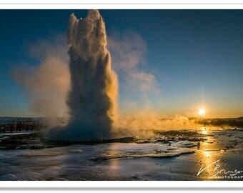Golden Geysir Iceland Photographic Print