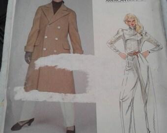 Vintage Vogue American Designer 2784 - ca. early 1980's - Ralph Lauren - Coat and Pants