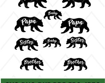 Papa Bear Printable Etsy