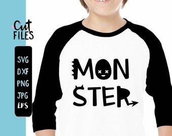 Monster SVG // Little Monster SVG / Boys sayings monster /boys monster svg /Monster png / cuttable design / silhouette file / cut / vector