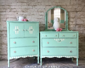 Chest and dresser set