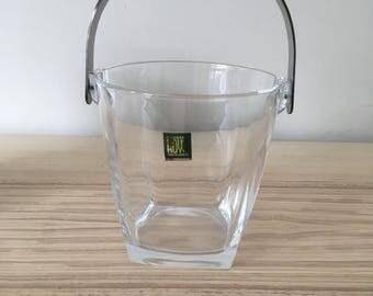 Hoya crystal ice bucket. Made in Japan.