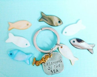 Dreaming Of The Sea Keyring