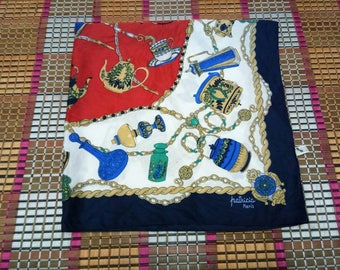Vintage patricia paris scarf / shawl iconic ladies fashion symbols size 30X31 inch